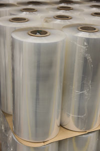 stretch film / roll / transparent / for wrapping machines