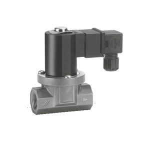 2-way solenoid valve / air / for gas / compact