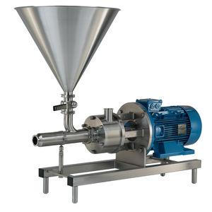 rotor-stator mixer / continuous / powder / high-shear