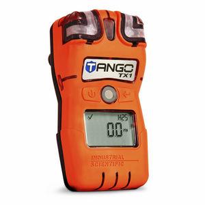 single gas detector / hydrogen sulfide / carbon monoxide / portable
