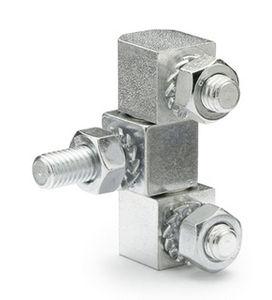 steel hinge / edge-mounted / cam