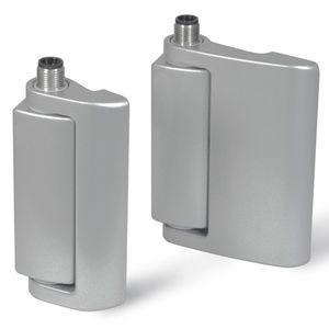 die-cast zinc hinge / concealed / weld-on / 180°