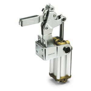 pneumatic toggle clamp / vertical / high load capacity / steel