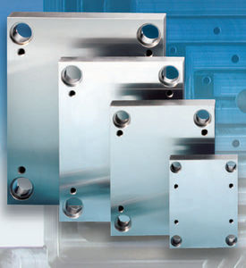 drilled machined steel plate