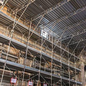 fixed scaffolding / modular / climbing / stairway