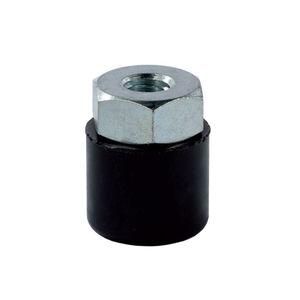 neoprene® cap / threaded / round / with threaded insert