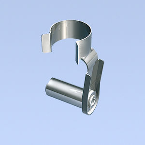 non-threaded stud / steel / crimp-on / spring