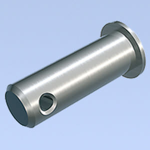 non-threaded stud / steel / crimp-on