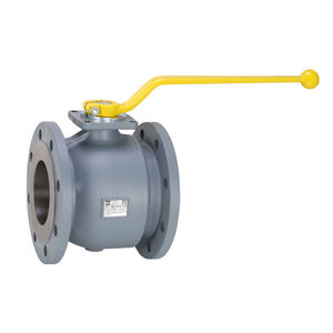 shut-off valve / floating ball / lever / for air