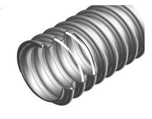 flexible air duct / PVC / metal wire / for ventilation
