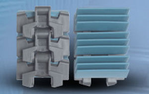 plastic chain / gripper / high-strength / beverage