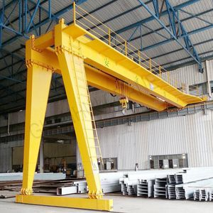 rail-mounted semi-gantry crane