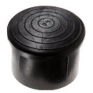 non-threaded end cap / round / polyethylene / PVC
