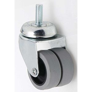 swivel caster / threaded stud / double / nylon