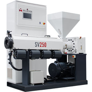 PP extruder / for HDPE / single-screw / grooved feed