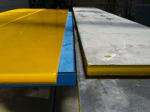 sheet steel / PU coated