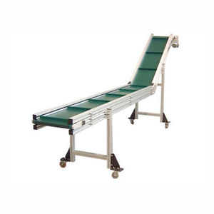 inclined conveyor / belt / for the food industry / for the pharmaceutical industry