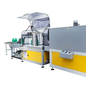 fully-automatic shrink wrapping machine / for PET bottles / beverage / for cylindrical products