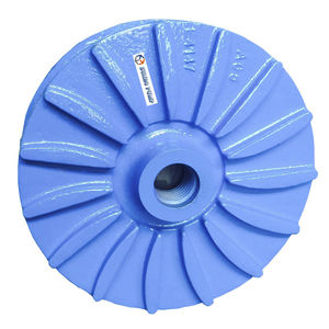 abrasive fluid pump impeller