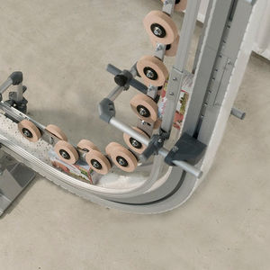 vertical conveyor / chain / for the food industry / modular