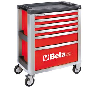 storage cabinet / on casters / 6-drawer / aluminum