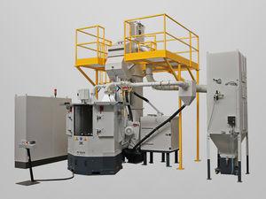 satellite shot blasting machine / for metal / automatic / turbine