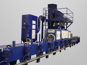 roller shot blasting machine / for tubes / continuous / sheet metal