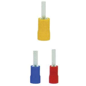 male solderless terminal / compression / rectangular / nylon-insulated