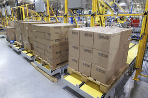 automatic palletizer / robotic / articulated / bag