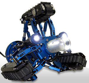 tracked inspection robot / with LED light / waterproof / vertical operation
