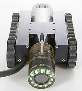 tracked inspection robot / vertical operation / magnetic / miniature