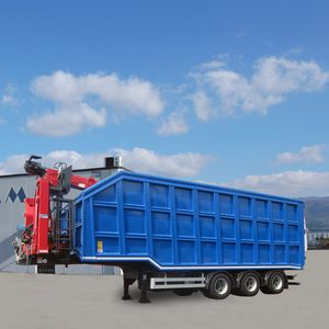 3-axle semi-trailer / for waste / hook lift