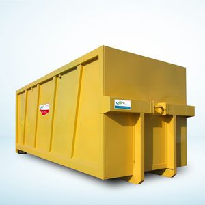 stainless steel waste container / for urban waste / for paper / for plastics
