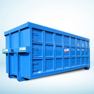 stainless steel waste container / for recycling / open