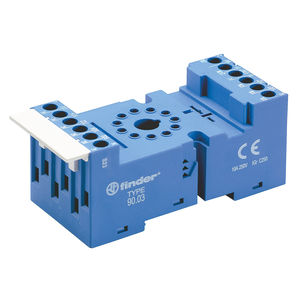 electromechanical relay socket / for printed circuit boards
