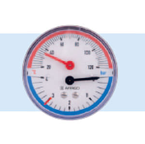 dial pressure gauge and thermometer / process
