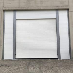 vertical sliding doors / metal / industrial / for shops