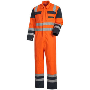 high-visibility coveralls / chemical protection / fire-retardant / anti-static