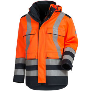 high-visibility jacket / work / waterproof / fire-retardant