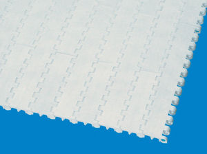 smooth conveyor belt / modular / plastic / for the food industry