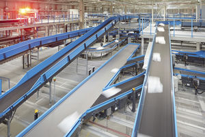 fabric conveyor belt / process / for the automotive industry / for airports