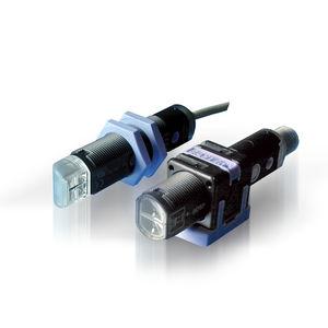 through-beam photoelectric sensor / cylindrical / LED / polarized