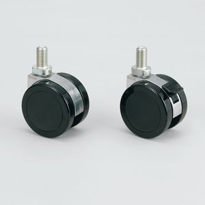 swivel caster / threaded stud / with brake / high load capacity