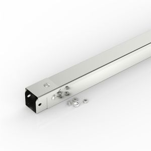 cabling trunking system / polished stainless steel / rigid