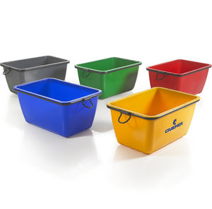 handling crate / HDPE / for the construction industry / for mortar