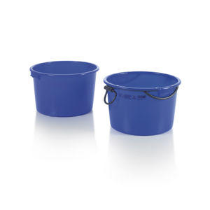 HDPE crate / mortar / with handle / round