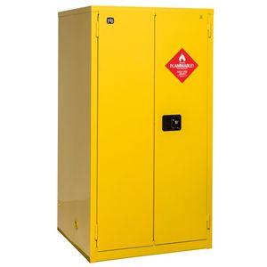 workshop cabinet / free-standing / double-door / steel