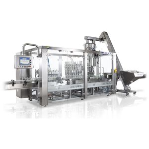 rotary rinser-filler-capper / for the pharmaceutical industry / for oil / for viscous liquids