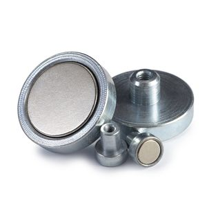 pot magnet / neodymium / with internal thread