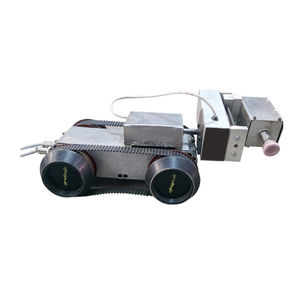 wheeled inspection robot / waterproof / miniature / for pipes